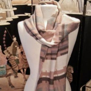 J Crew Scarf Vintage Look Blanket Print